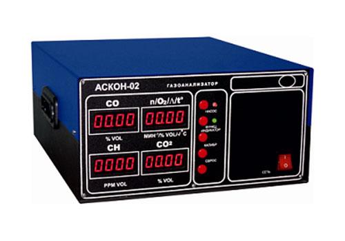 АСКОН-02.13 является четырехкомпонентным газоанализатором и применяется для измерения содержания загрязняющих веществ и коэффициента избытка воздуха (лямбда параметр) в отработавших газах автомобилей с бензиновыми двигателями, оснащенных трехкомпонентными системами нейтрализации (в том числе работающих на альтернативном топливе.
