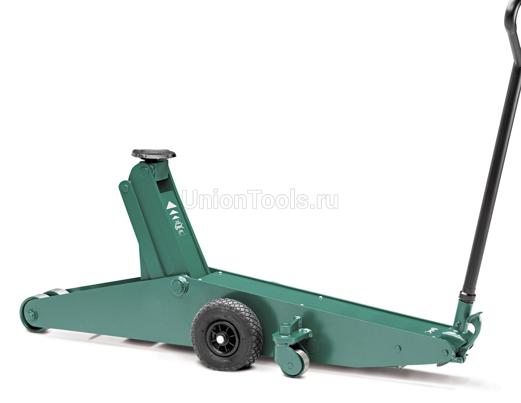 Домкрат подкатной гидравлический, г/п 15000 кг