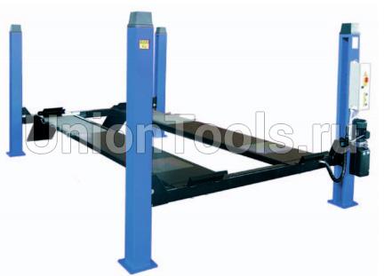 Электрогидравлический четырехстоечный подъемник, г/п 4000 кг.