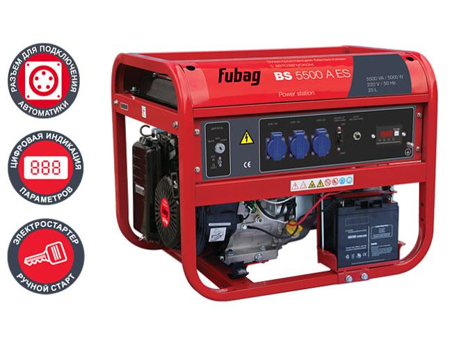 Надежный и неприхотливый источник энергии для аварийного или мобильного электроснабжения Fubag BS 5500 A ES