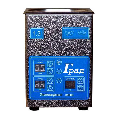 Ультразвуковая ванна объемом 1,3 литра с подогревом моющей жидкости и цифровым управлением