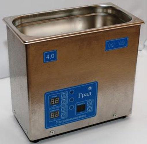 Ультразвуковая ванна объемом 4,0 литра с подогревом моющей жидкости и цифровым управлением