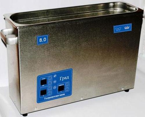 Ультразвуковая ванна объемом 8,0 литров с подогревом моющей жидкости и цифровым управлением