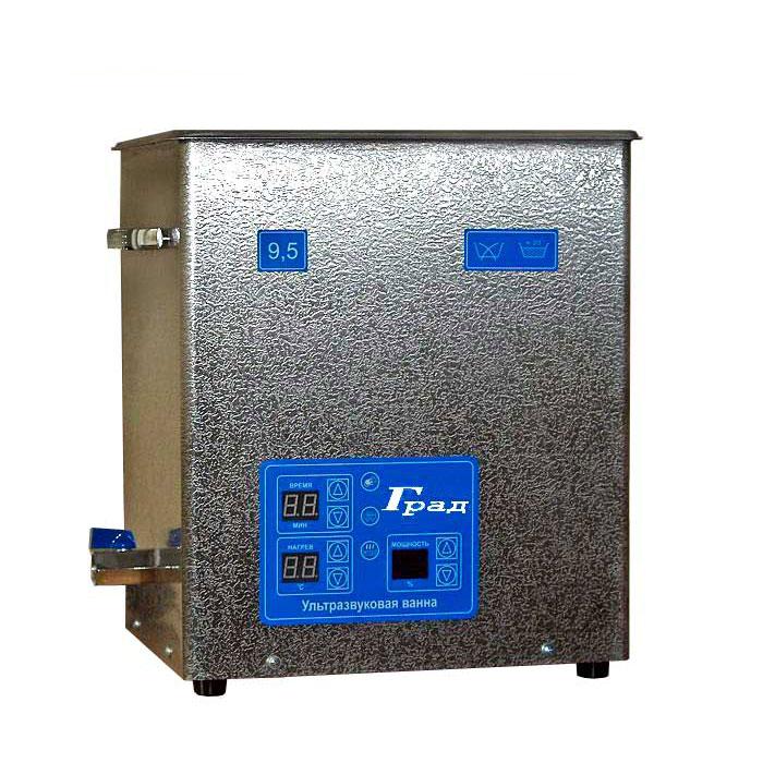 Ультразвуковая ванна объемом 9,5 литров с подогревом моющей жидкости и цифровым управлением