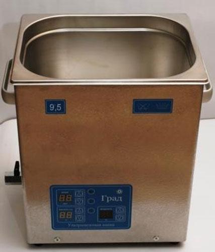 Ультразвуковая ванна объемом 9,5 литров с генератором большей мощности, подогревом моющей жидкости и цифровым управлением