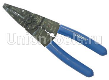 Клещи для зачистки проводов и обжимки клемм 200 мм