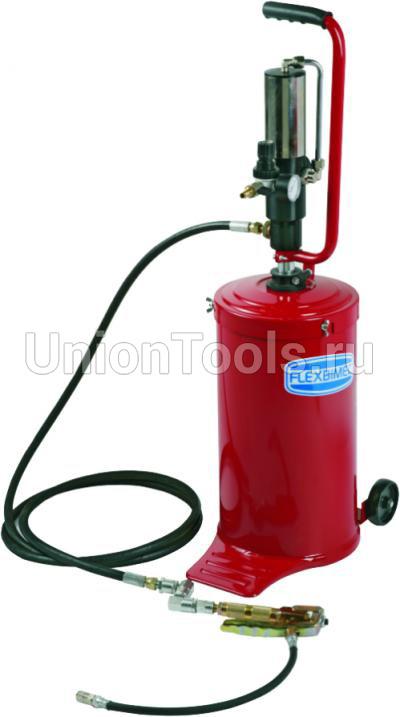 Компактная установка с пневматическим насосом для подачи густых смазок под давлением