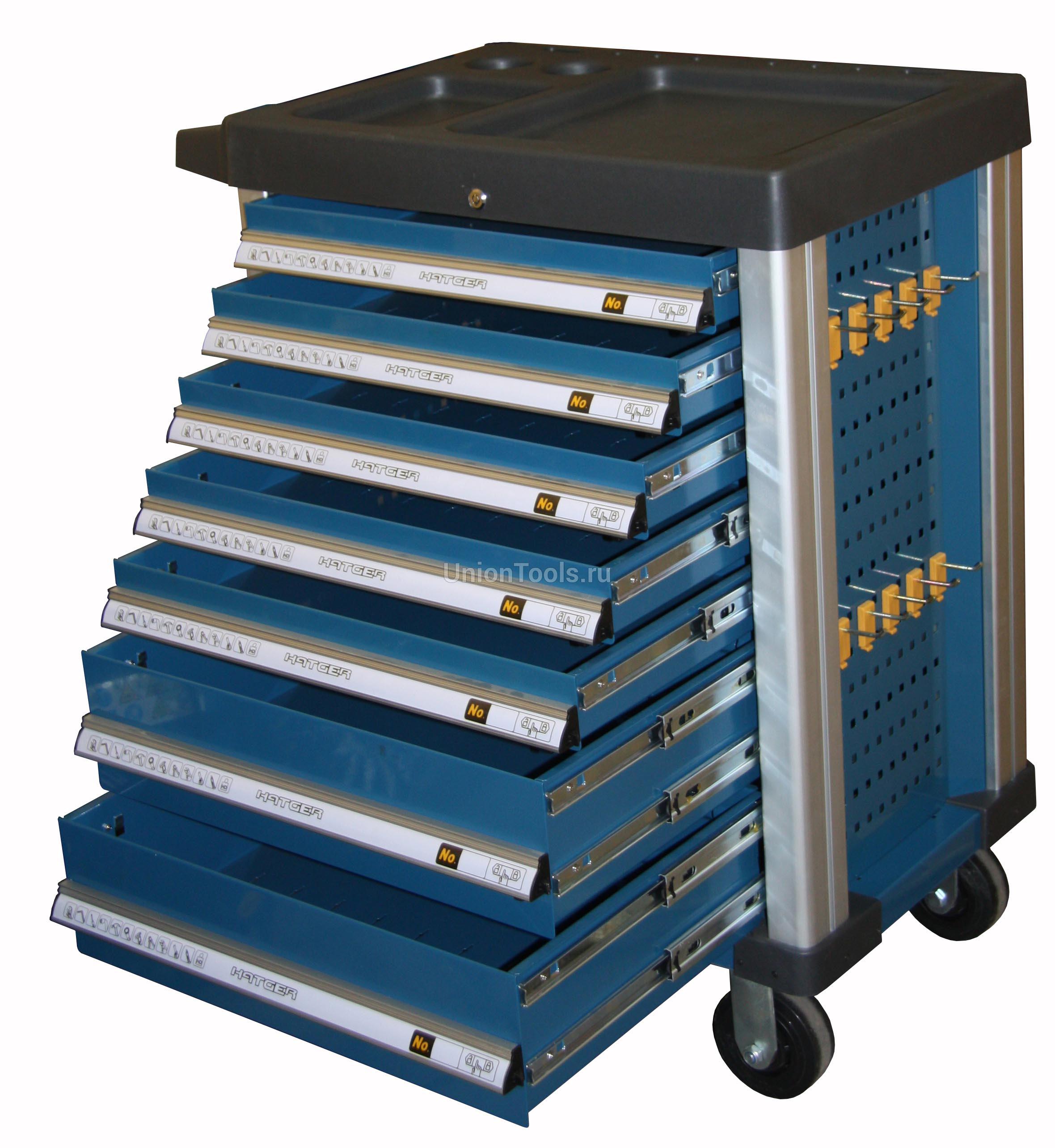 Комплект инструментов в 23 ложементах, 377 предметов для телеги от 7 ящиков