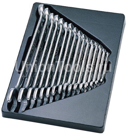 Комплект ключей комбинированных укороченных 12 предметов
