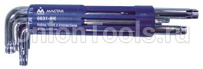Комплект ключей Г-образных TORX длинных 8 предметов