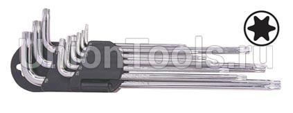 Комплект ключей Г-образных TORX длинных 9 предметов