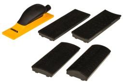 Комплект шлифблока с пылеотводом, 70х198 мм, 40 отверстий.