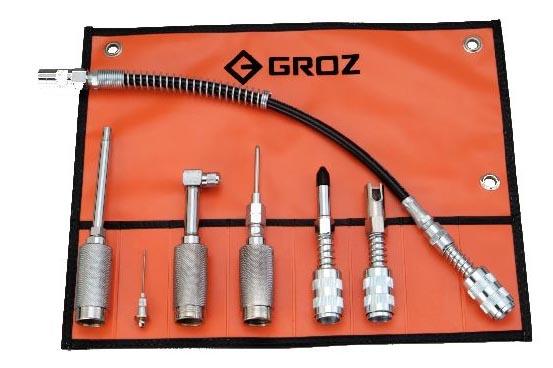 GAK/7 Многоцелевой набор адаптеров для смазки к ручным шприцам
