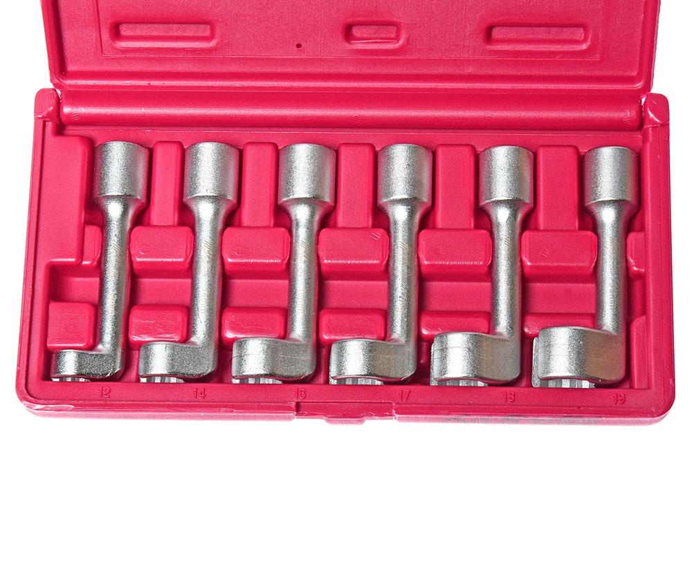 Набор ключей разрезных L-образных 12-19мм, 6шт