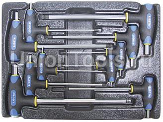 Набор ключей Т-образных шестигранных с пластиковой рукояткой 10 предметов