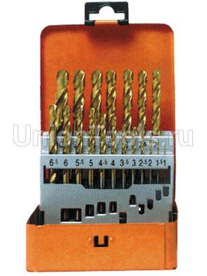 Набор 19 сверел HSS-TiN Typ N 1-10/0.5мм
