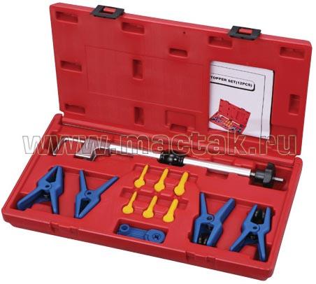 Набор зажимов для металлических патрубков и резиновых шлангов
