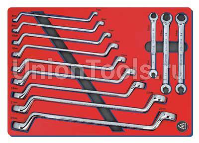 Набор накидных и разрезных ключей 12 предметов
