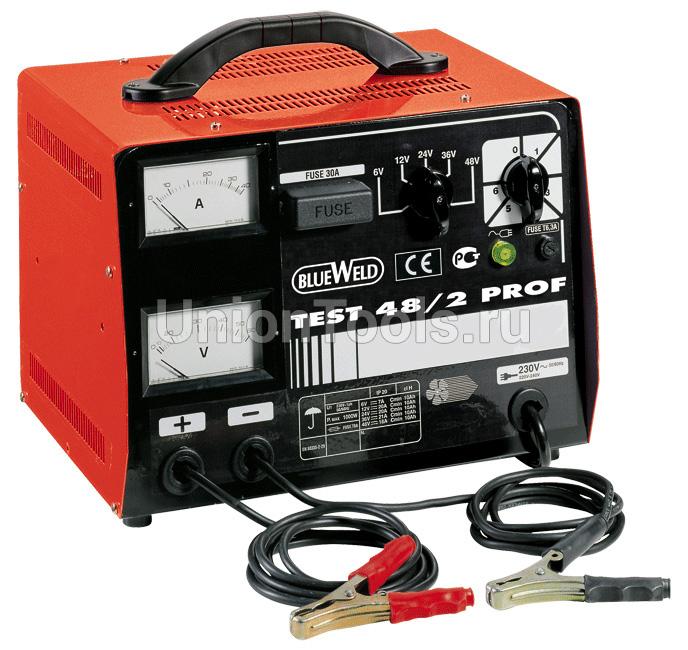 Однофазное переносное профессиональное зарядное устройство TEST 48/2 PROF