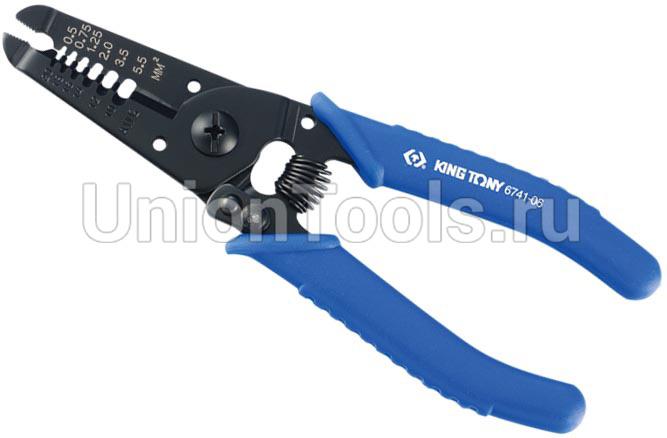 Пассатижи для зачистки изоляции и отрезания проводов (0,5-5,5 мм² и до 6 мм²)