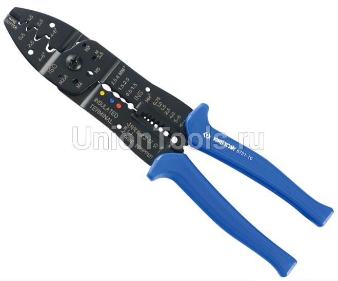 Пассатижи для зачистки изоляции и обжима контактов 250 мм