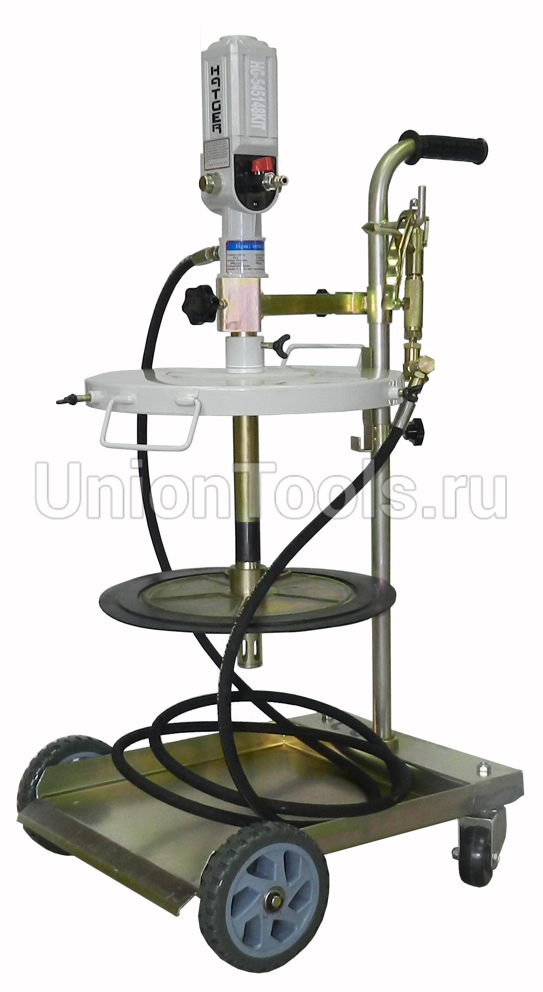 Передвижной комплект солидолонагнетателя 50:1 для ведер 40-60 кг