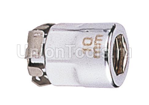 Переходник под ключ с трещоткой 10 мм. для бит 1/4