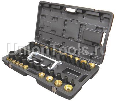 Съемник-запресовщик гидравлический c рамой и комплектом оправок