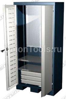 Шкаф для оснастки и инструмента, 2 полки, 3 выдвижных ящика.