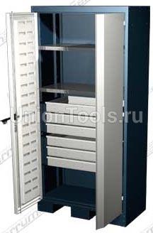 Шкаф для оснастки и инструмента, 2 полки, 6 выдвижных ящиков.