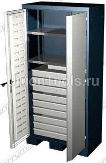 Шкаф для оснастки и инструмента, 2 полки, 9 выдвижных ящиков.