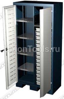Шкаф для оснастки и инструмента, 5 полок, 15 выдвижных ящиков.