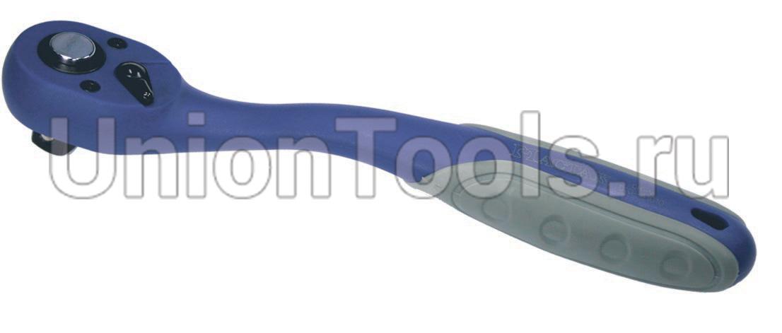 Трещотка с флажковым переключателем и кнопочным фиксатором 72 зубца 3/8