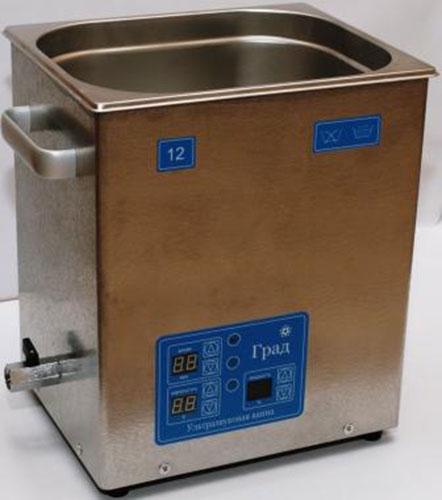 Ультразвуковая ванна объемом 12,0 литров с генератором большей мощности, подогревом моющей жидкости и цифровым управлением