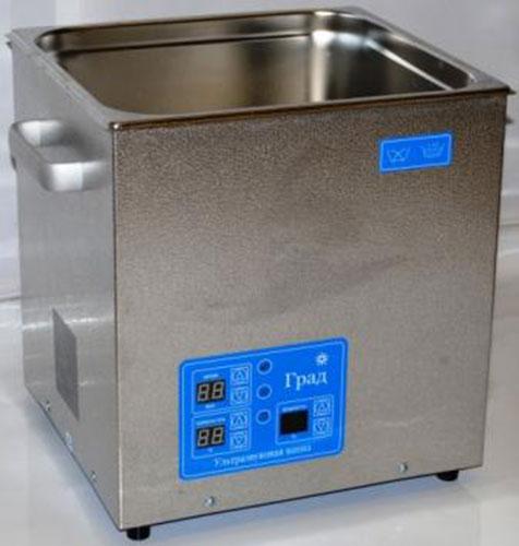 Ультразвуковая ванна объемом 14,0 литров с подогревом моющей жидкости и цифровым управлением