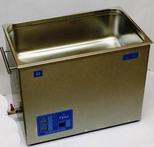Ультразвуковая ванна объемом 22,0 литра с генератором большей мощности, подогревом моющей жидкости и цифровым управлением