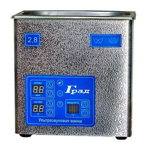 Ультразвуковая ванна объемом 2,8 литра с подогревом моющей жидкости и цифровым управлением