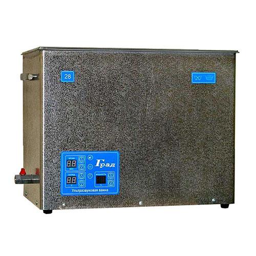Ультразвуковая ванна объемом 28,0 литра с генератором большей мощности, подогревом моющей жидкости и цифровым управлением