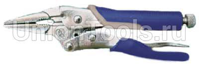 Зажим с фиксатором (струбцина) тонконосый 225 мм